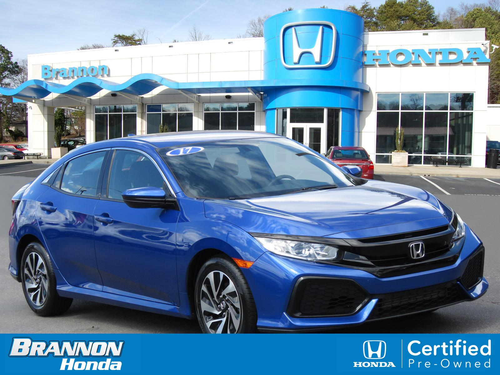 Certified Pre-Owned 2017 Honda Civic Hatchback LX CVT