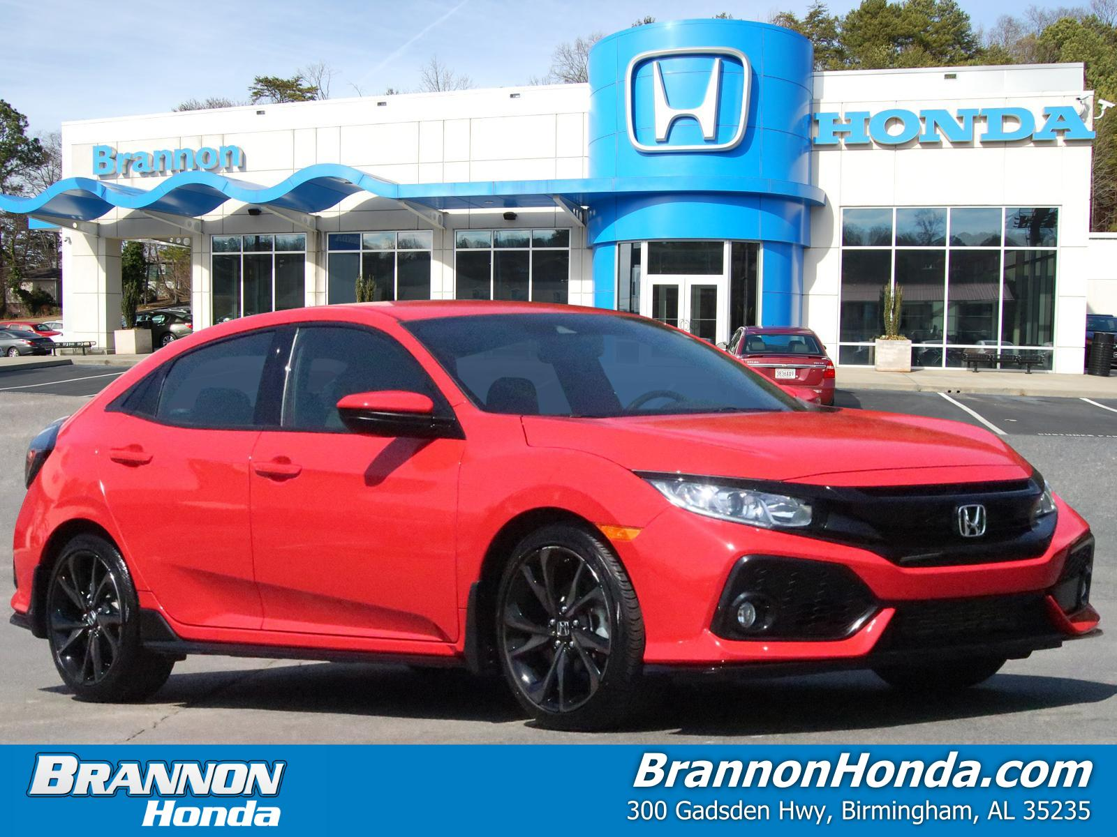 Certified Pre-Owned 2019 Honda Civic Hatchback Sport CVT